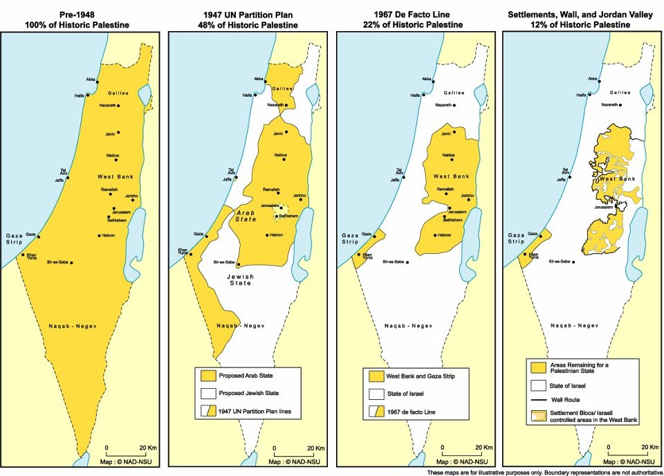 Disappearing Palestine 1947-2014