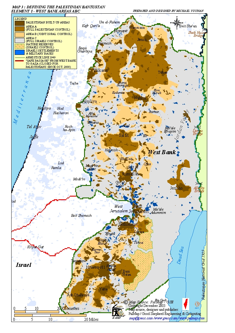 Map West Bank Areas