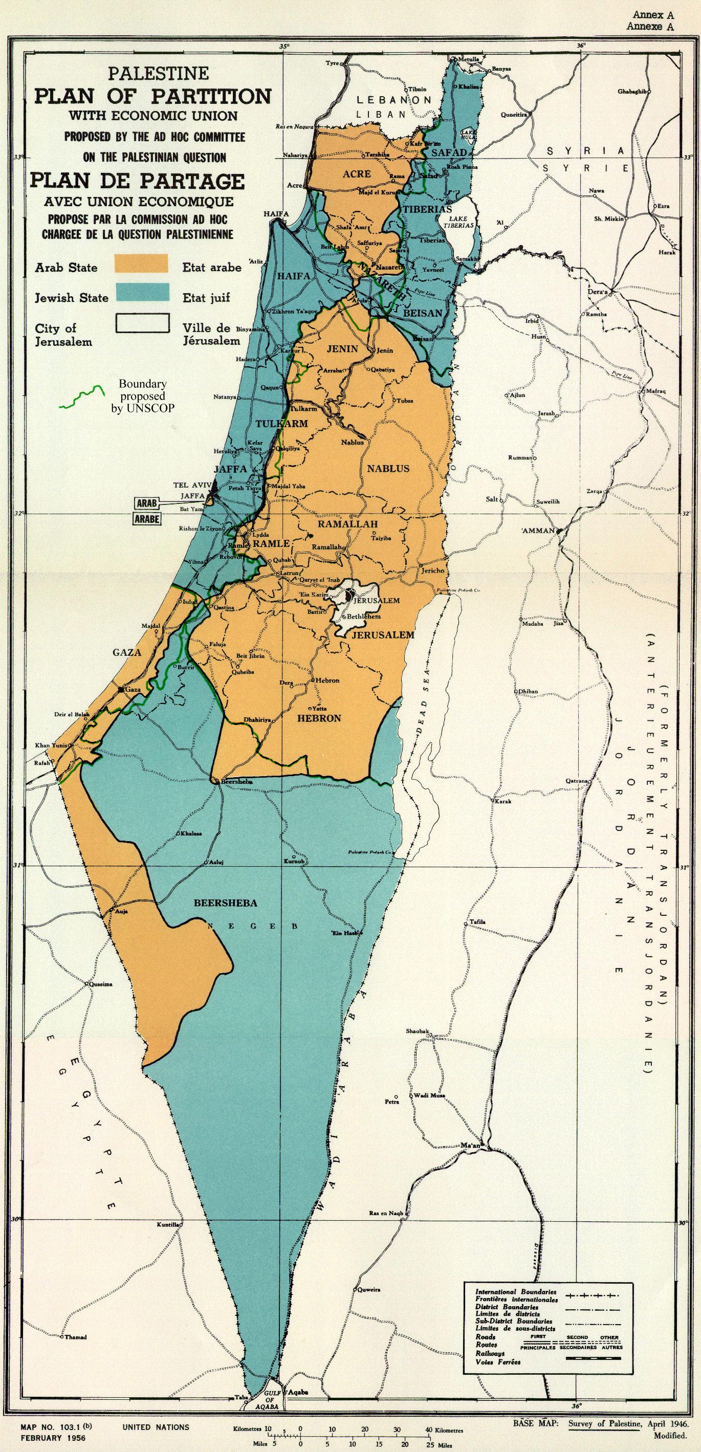 UN Parition Plan 1947